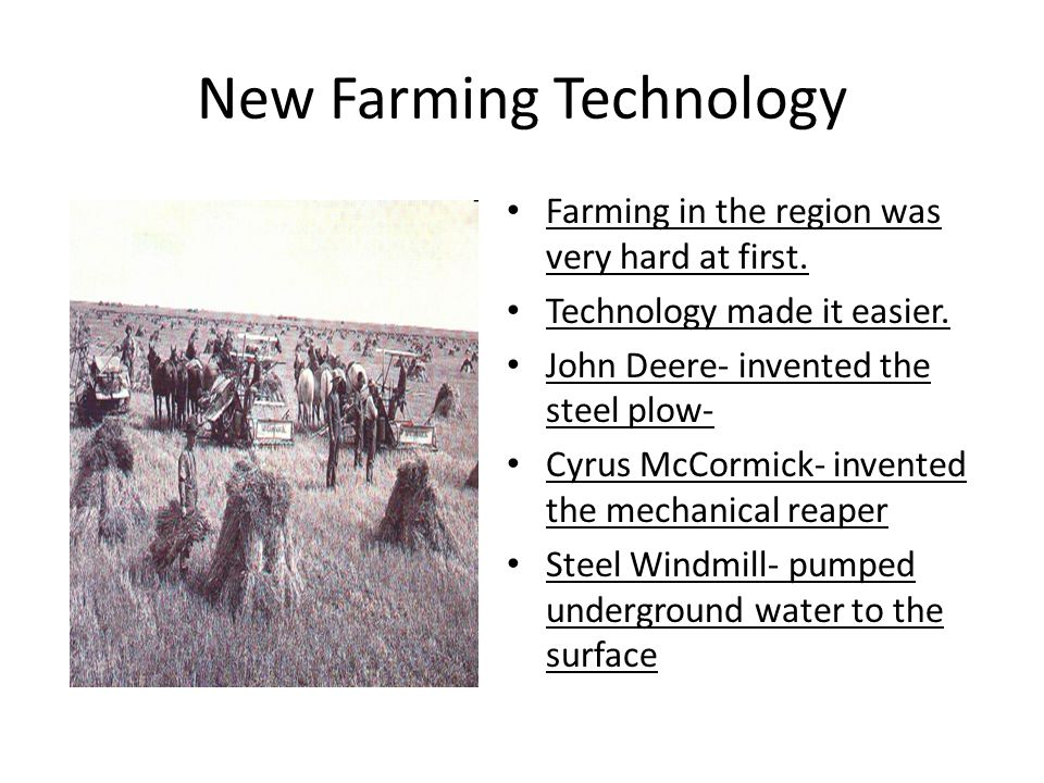 New Farming Technology