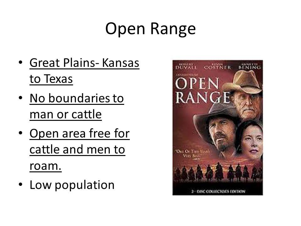 Open Range Great Plains- Kansas to Texas