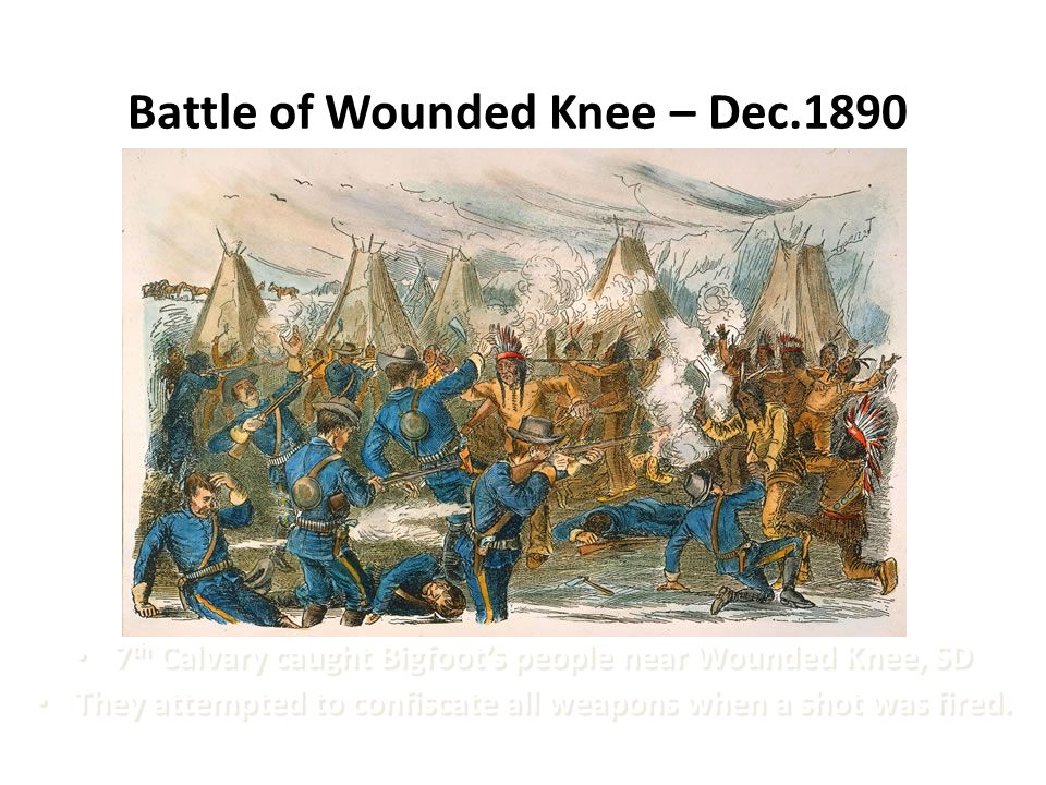 Battle of Wounded Knee – Dec.1890