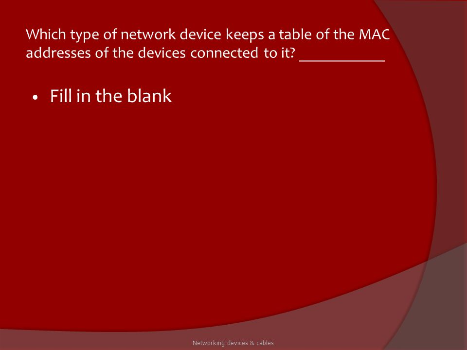 Networking devices & cables