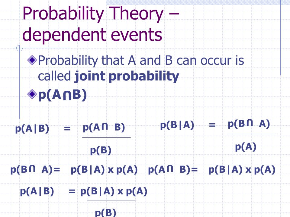 Probability Theory – dependent events