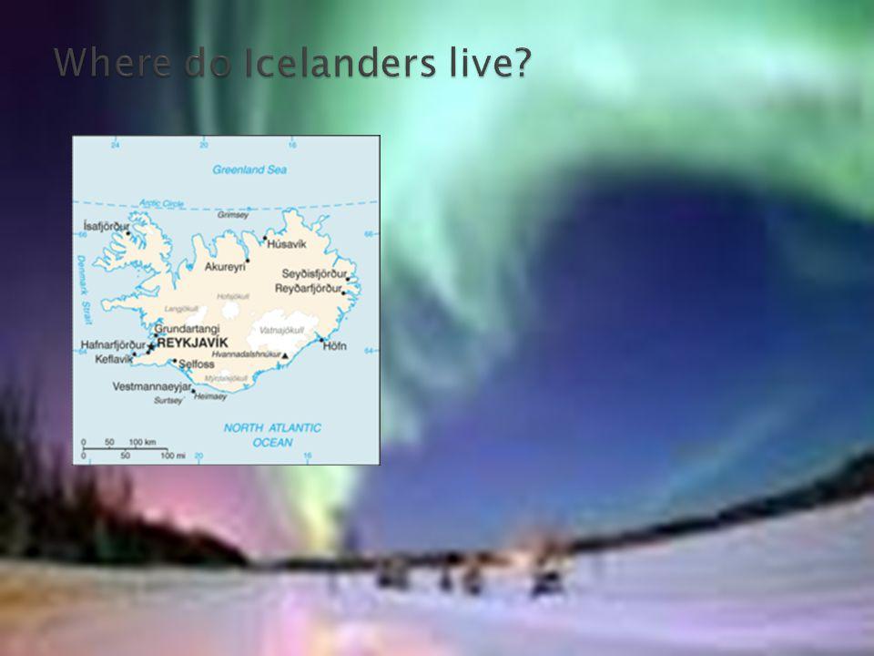 Where do Icelanders live