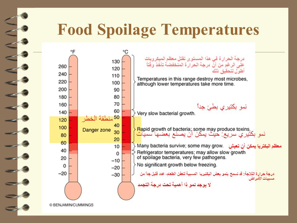 Food Spoilage Temperatures