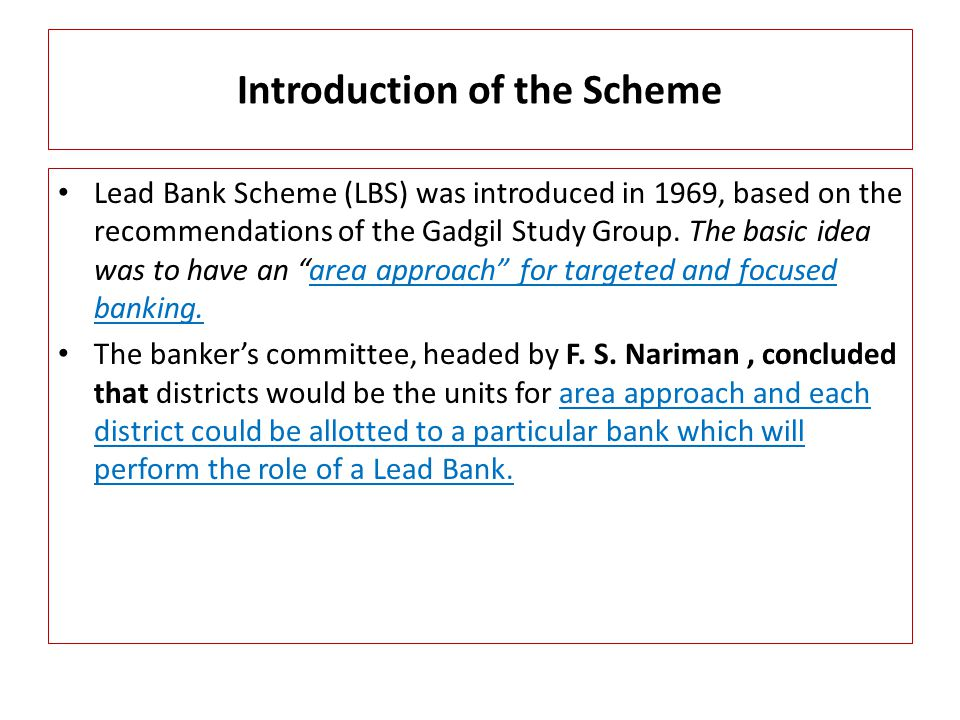 Introduction of the Scheme