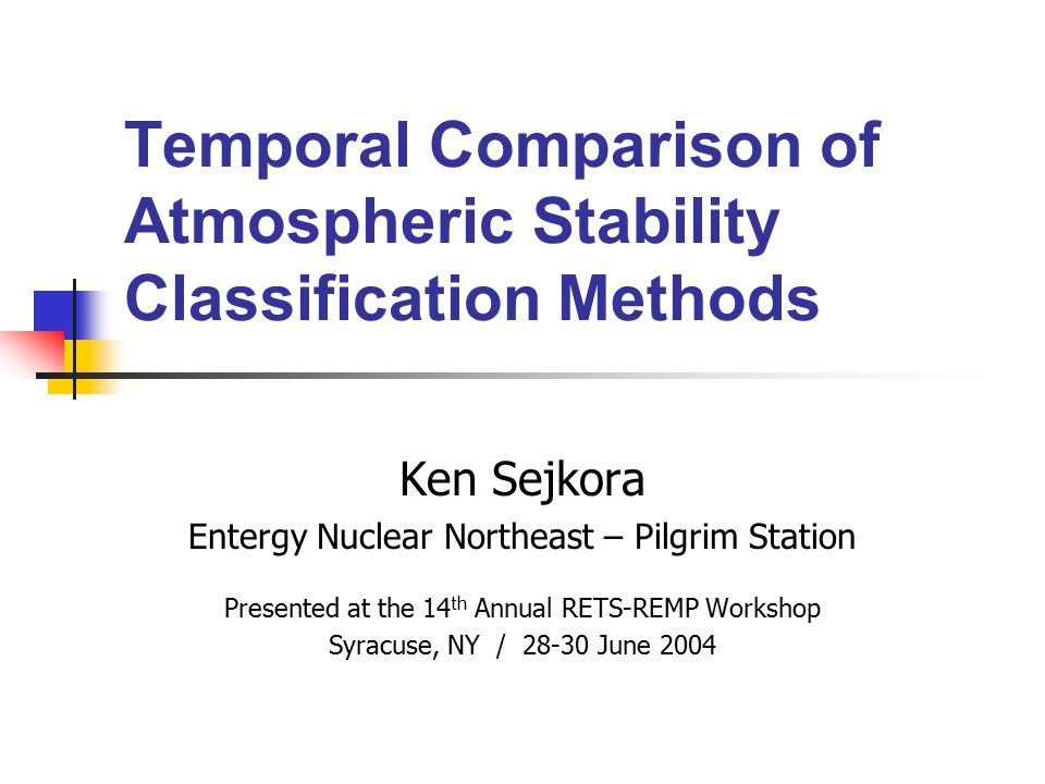 Temporal Comparison of Atmospheric Stability Classification Methods
