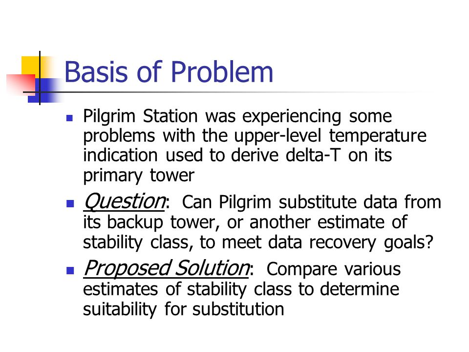 Basis of Problem