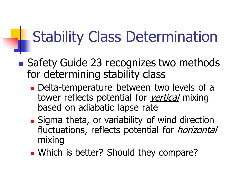 Stability Class Determination