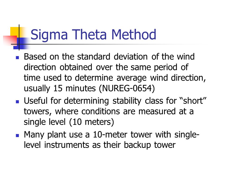 Sigma Theta Method