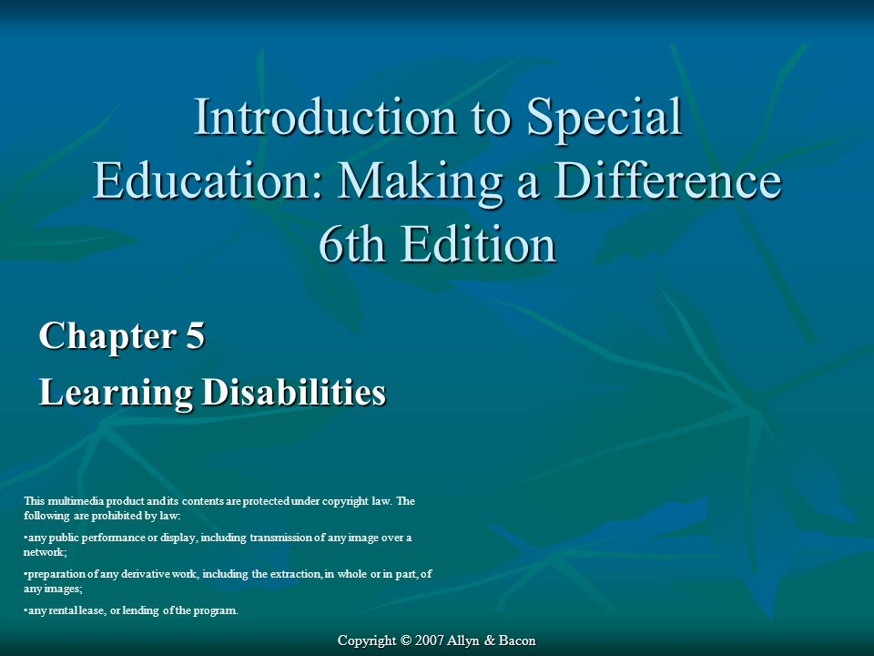 Introduction to Special Education: Making a Difference 6th Edition