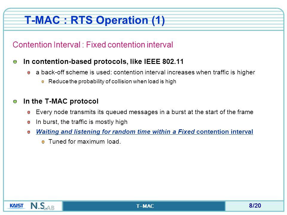 T-MAC : RTS Operation (1)
