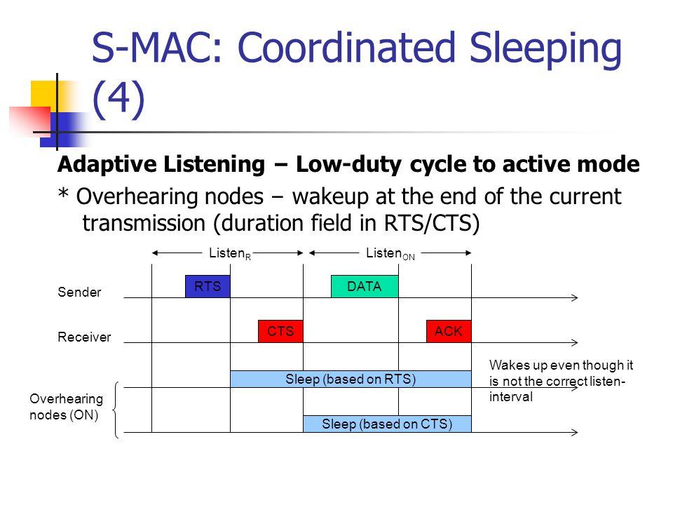 S-MAC: Coordinated Sleeping (4)