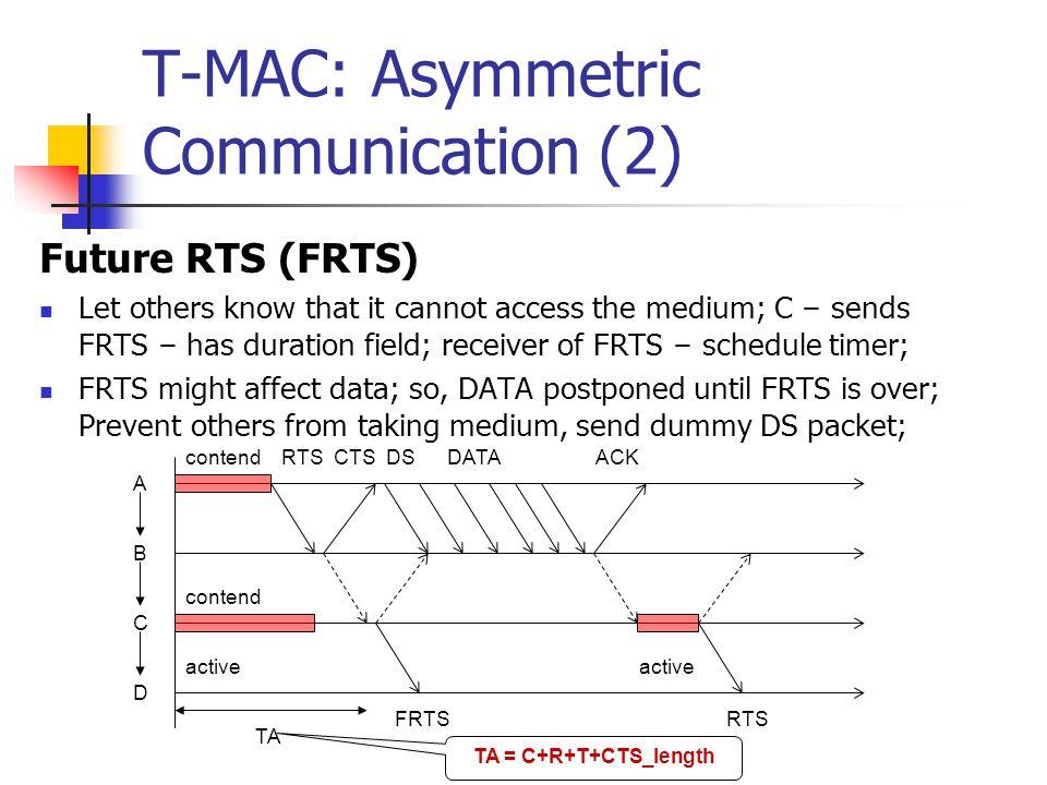 T-MAC: Asymmetric Communication (2)