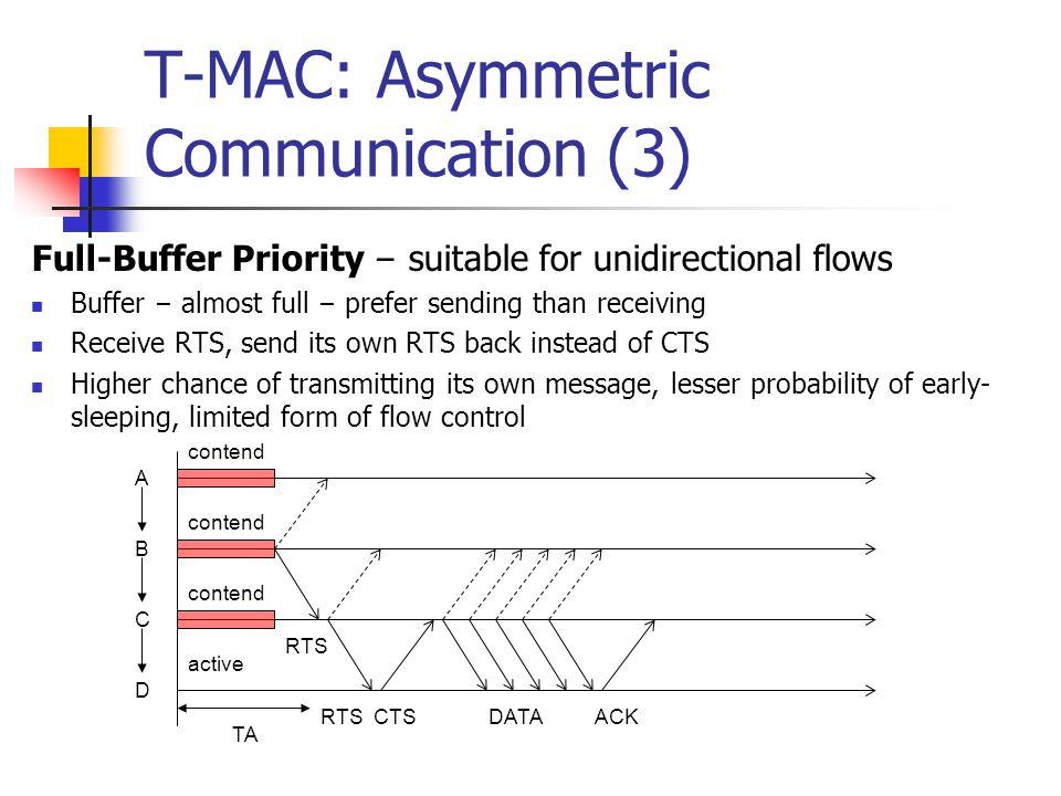T-MAC: Asymmetric Communication (3)