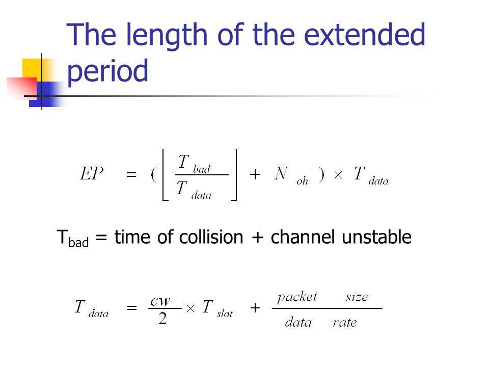 The length of the extended period
