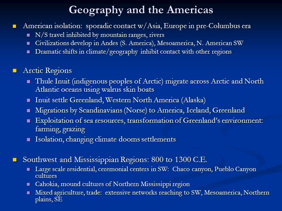 Geography and the Americas