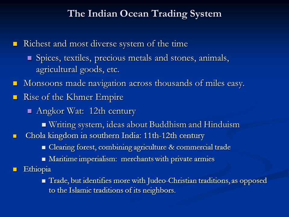 The Indian Ocean Trading System
