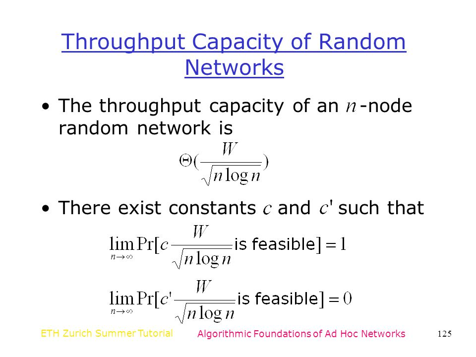 Throughput Capacity of Random Networks