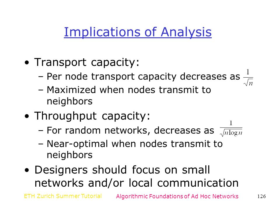 Implications of Analysis