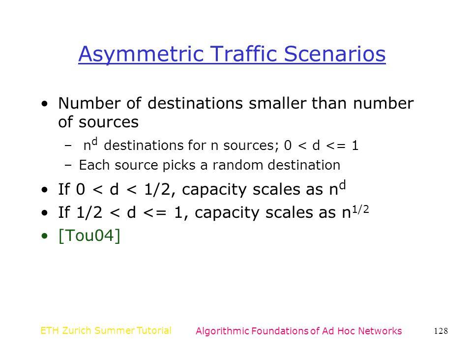Asymmetric Traffic Scenarios