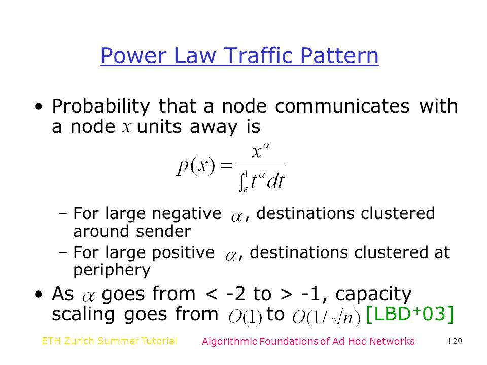 Power Law Traffic Pattern