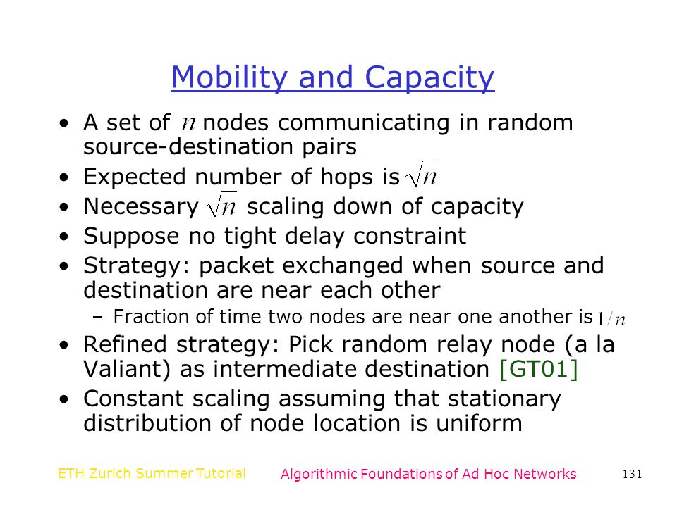 Algorithmic Foundations of Ad Hoc Networks
