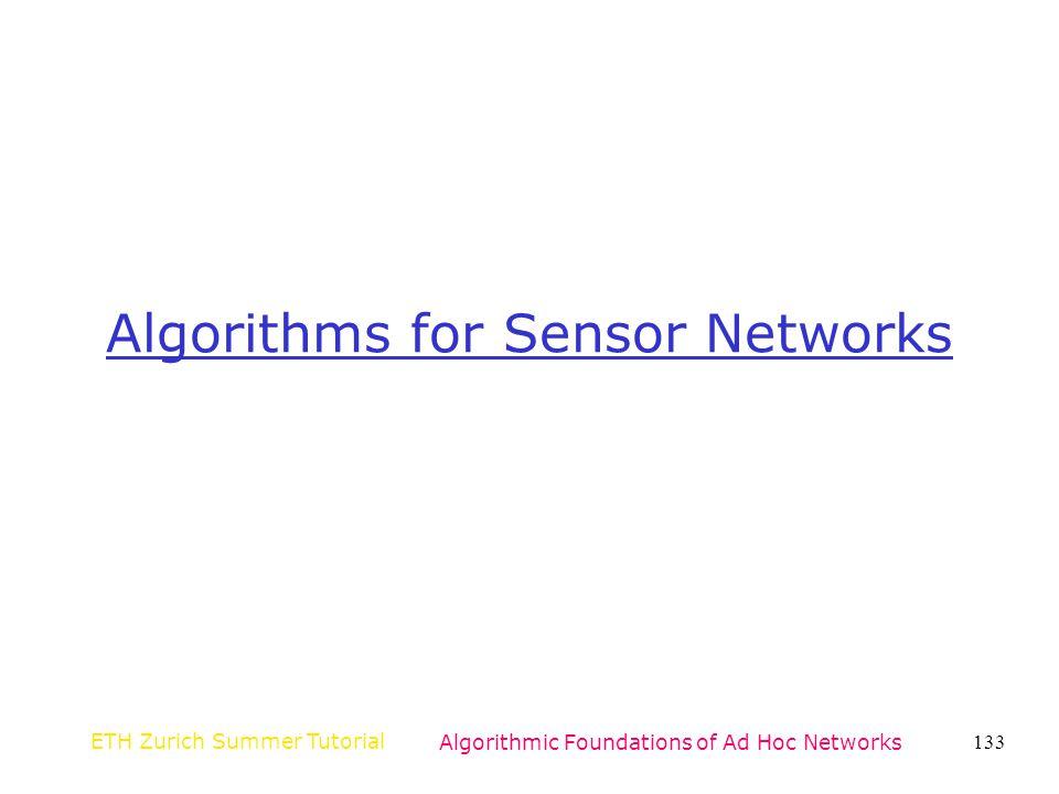 Algorithms for Sensor Networks