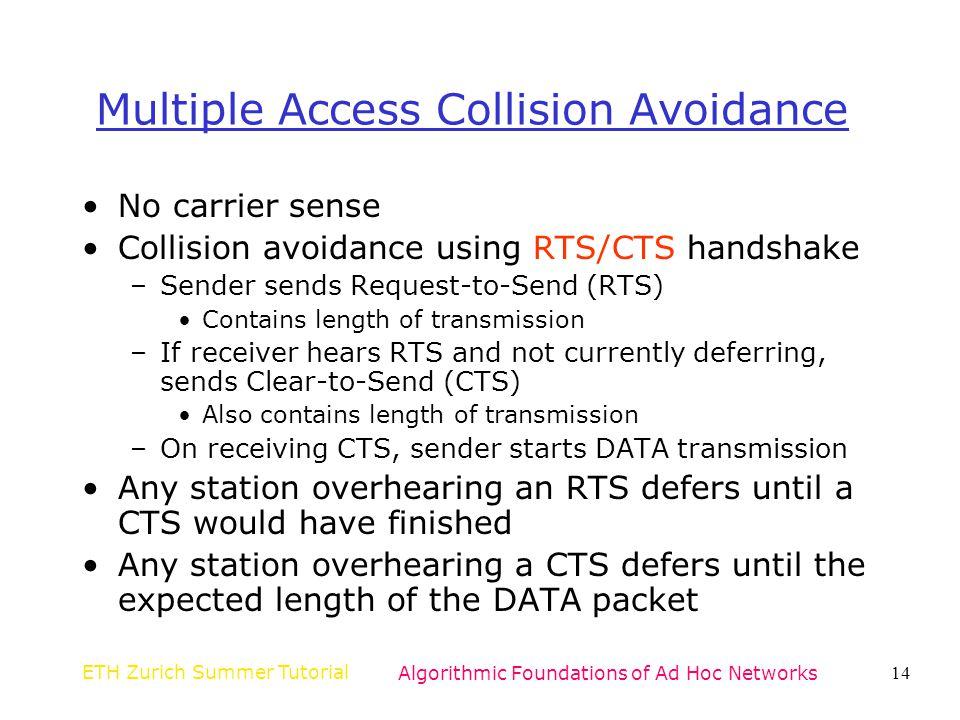 Multiple Access Collision Avoidance