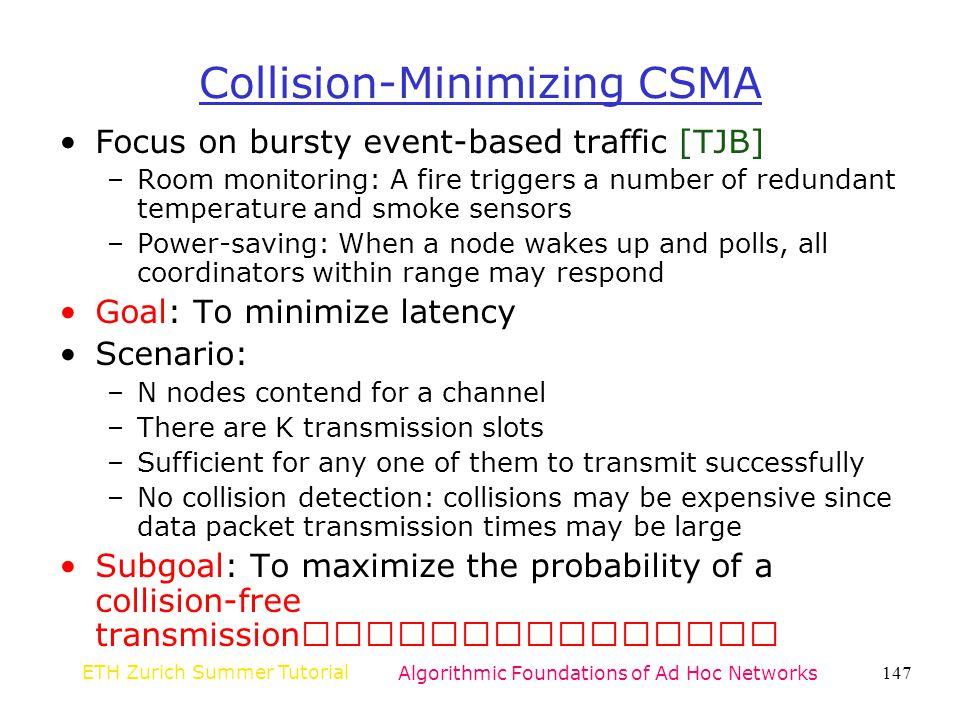 Collision-Minimizing CSMA