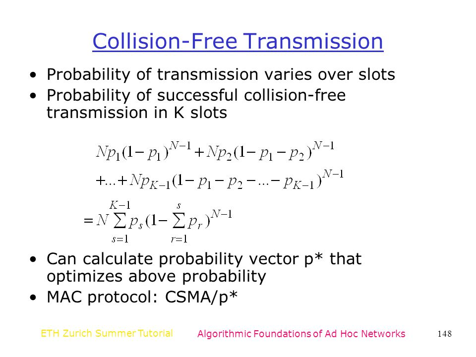 Collision-Free Transmission