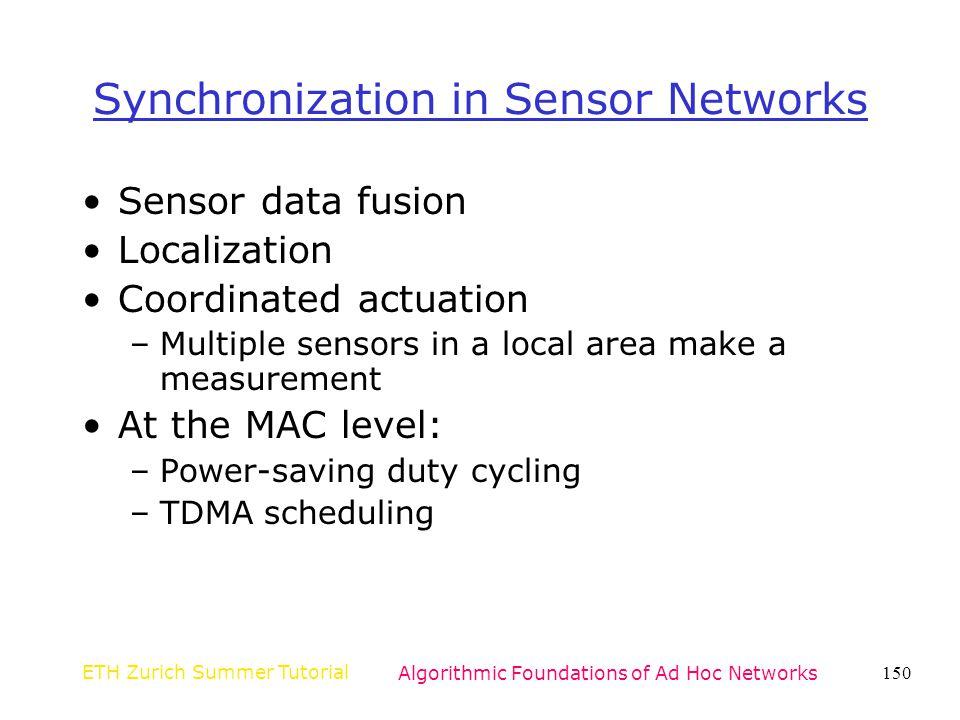 Synchronization in Sensor Networks