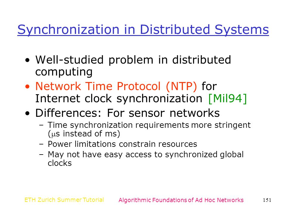 Synchronization in Distributed Systems