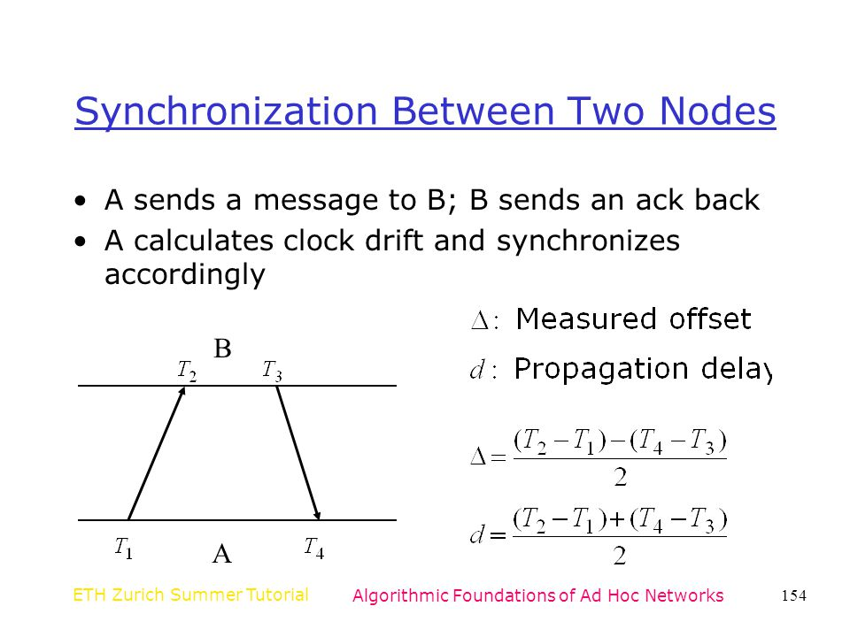 Synchronization Between Two Nodes