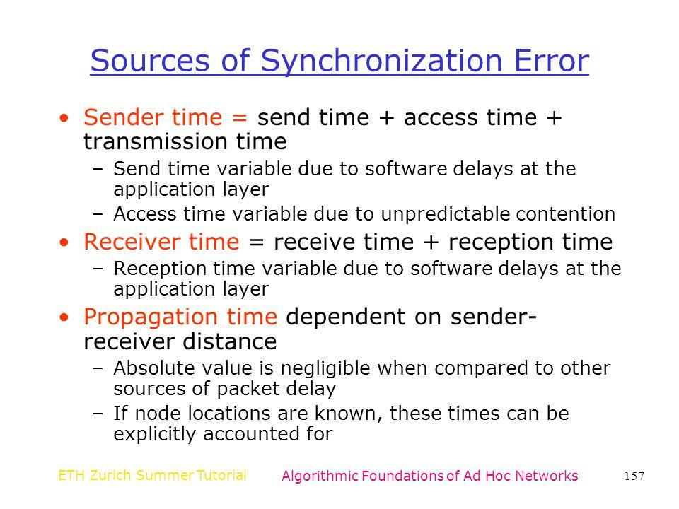 Sources of Synchronization Error