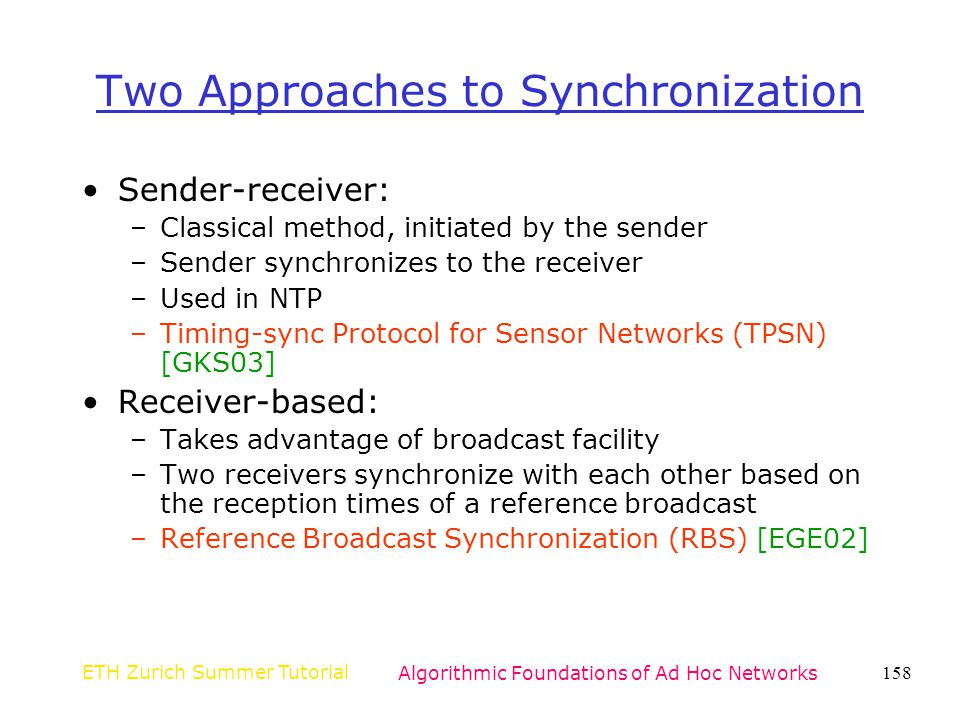 Two Approaches to Synchronization