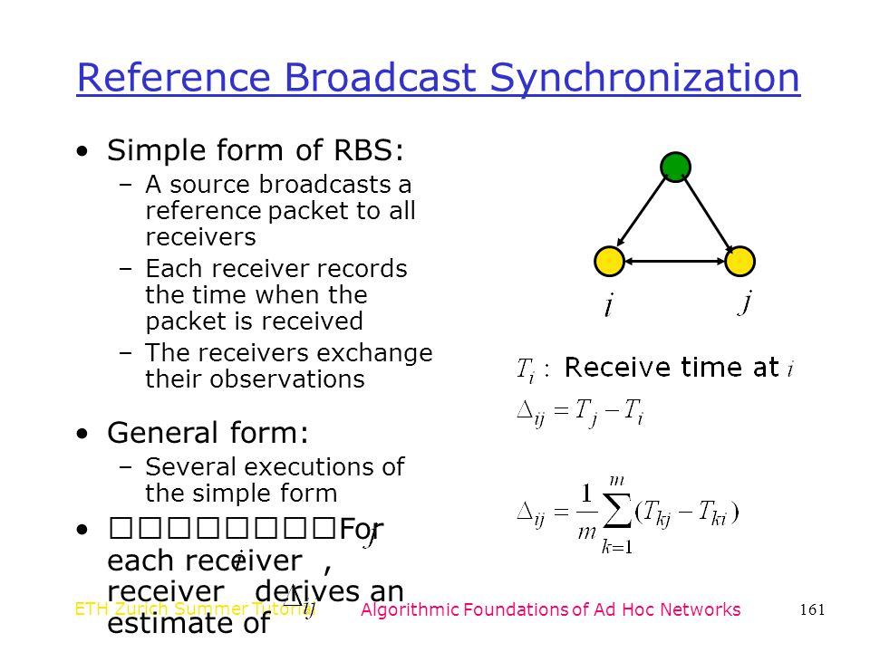Reference Broadcast Synchronization