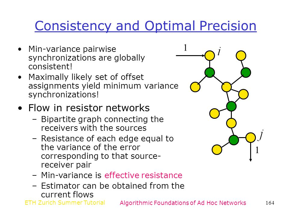 Consistency and Optimal Precision