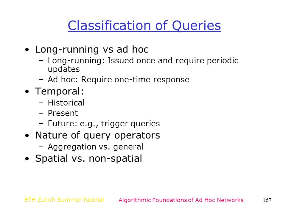 Classification of Queries