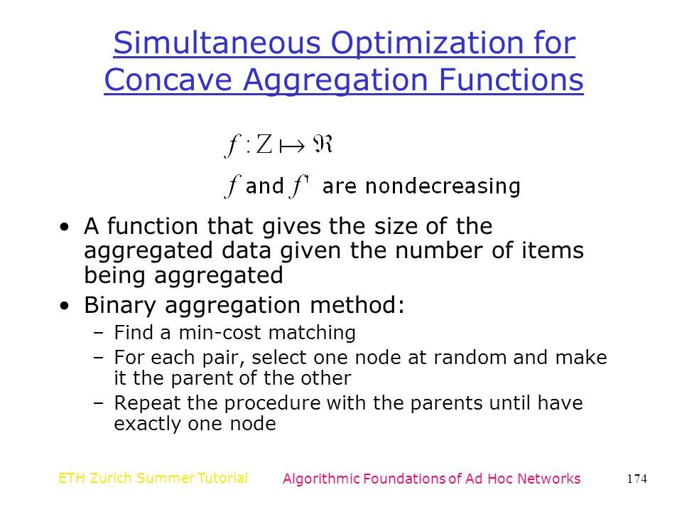 Simultaneous Optimization for Concave Aggregation Functions