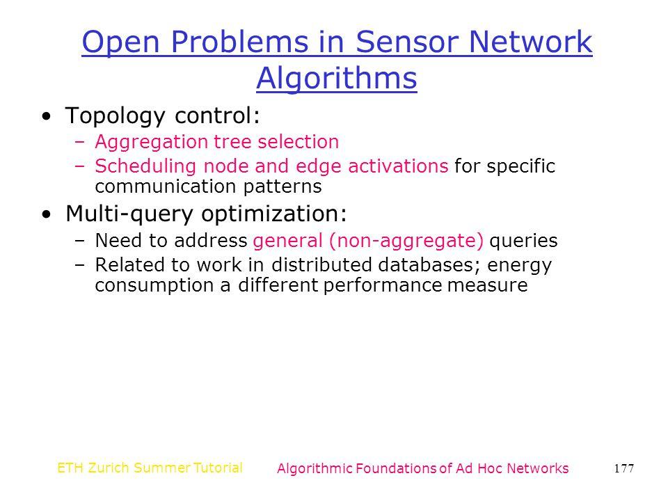 Open Problems in Sensor Network Algorithms