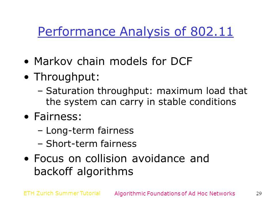 Performance Analysis of 802.11