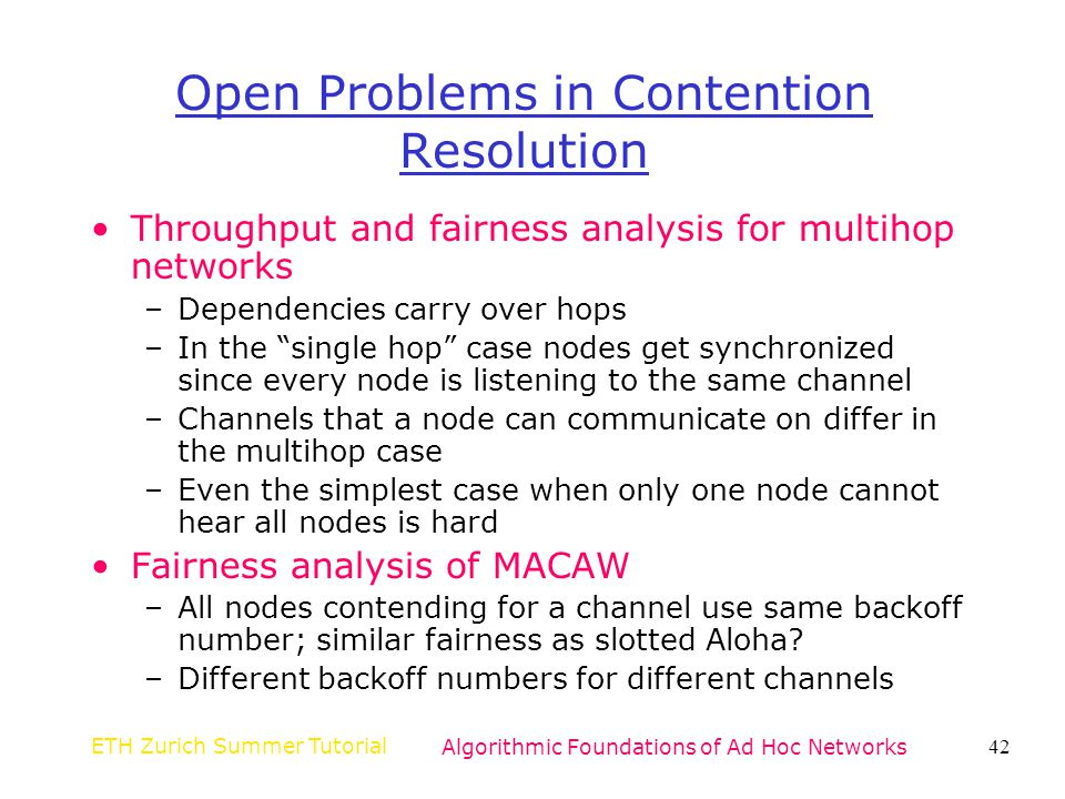 Open Problems in Contention Resolution
