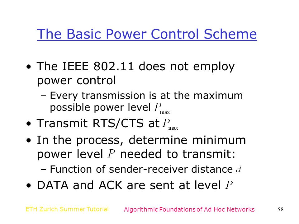 The Basic Power Control Scheme