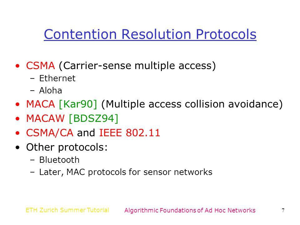 Contention Resolution Protocols