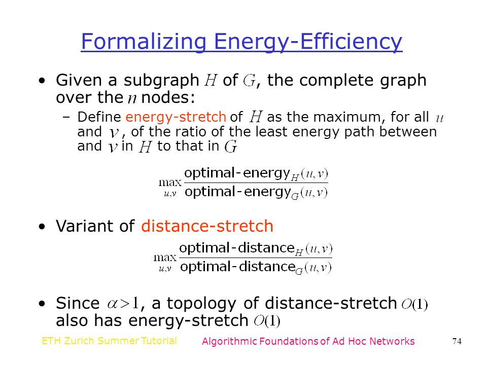 Formalizing Energy-Efficiency