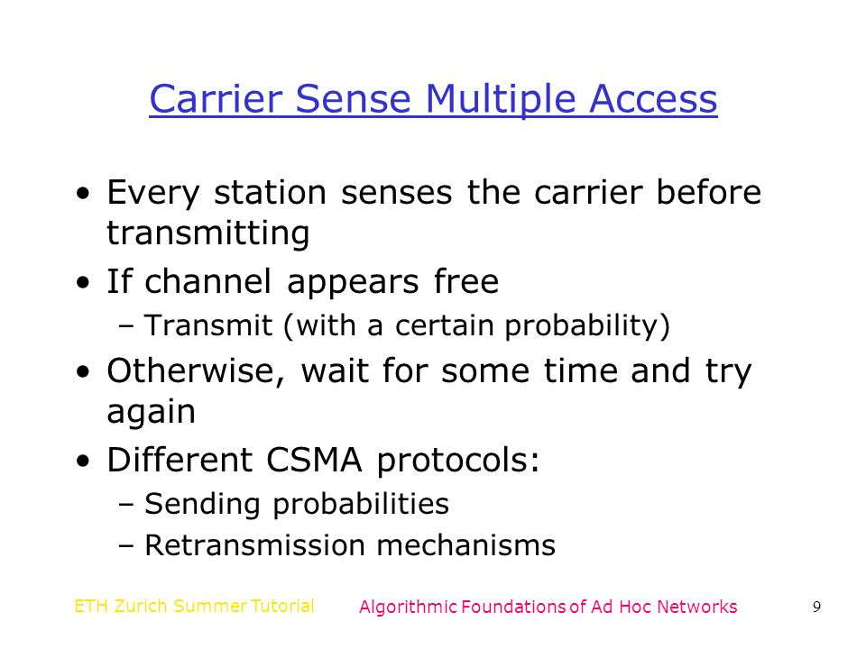 Carrier Sense Multiple Access
