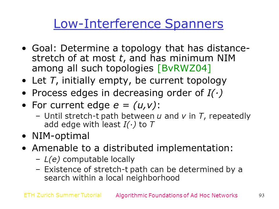 Low-Interference Spanners