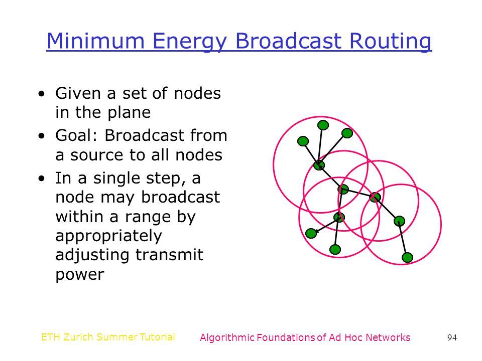 Minimum Energy Broadcast Routing