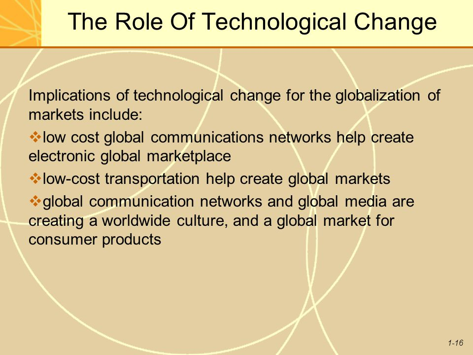 The Role Of Technological Change