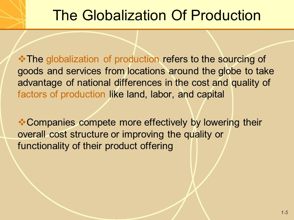 The Globalization Of Production