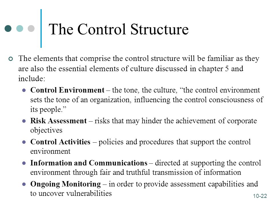 The Control Structure